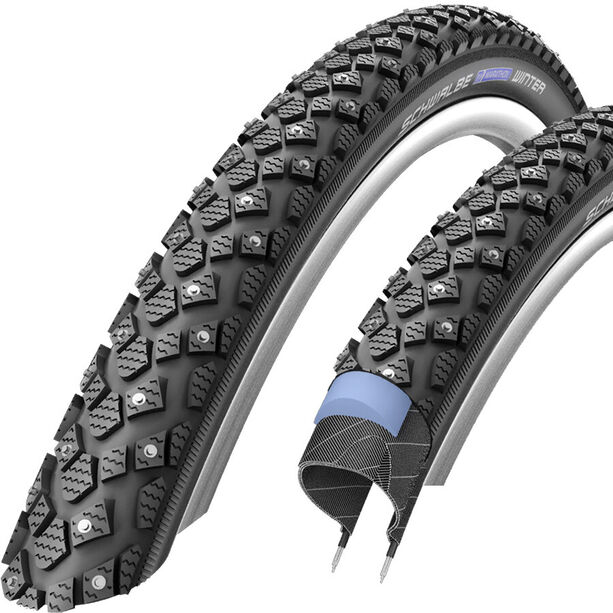 "SCHWALBE Marathon Winter Plus Wired-on Tire Reflex 26x2.00"" black"