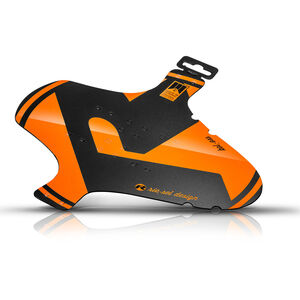 "Riesel Design kol:oss Front Mudguard 26-29"" Large orange orange"
