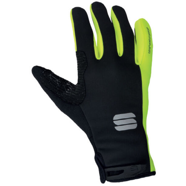 Sportful Essential 2 Gloves black/yellow fluo