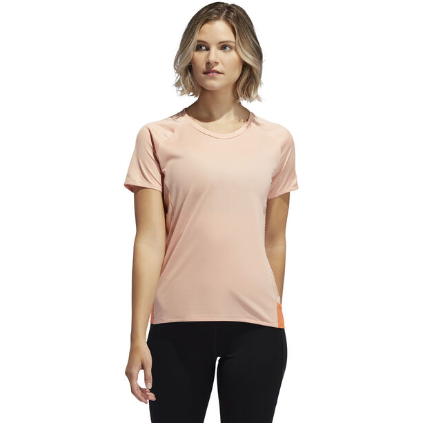 adidas 25/7 Rise Up N Run SS Tee Women glossy pink