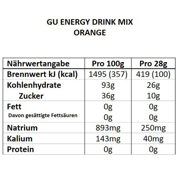 GU Energy Drink Mix 840g Orange