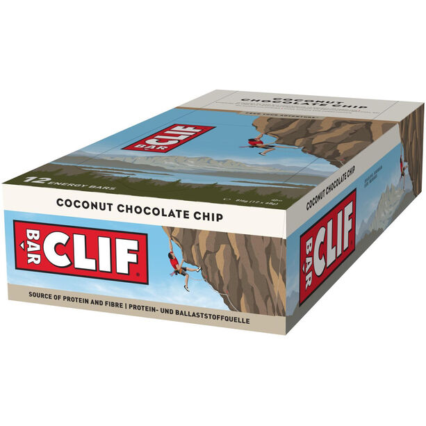 CLIF Bar Energy Bar Box 12x68g Coconut Chocolate Chip